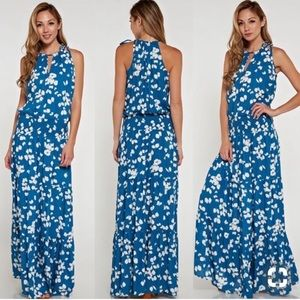 Anthropologie Dresses - Love stitch butterfly print maxi dress